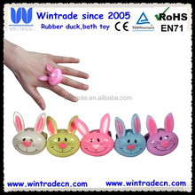 Soft TPR rabbit kids ring with led