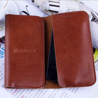 Guangzhou manufacturing new arrival genuine Leather wallet purse style Pouch Cover case For Apple Iphone 5c