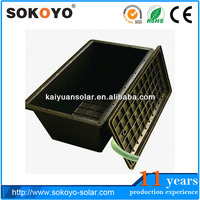 battery powered led light box solar battery plastic Box for solar battery 12V100AH with waterproof hinged