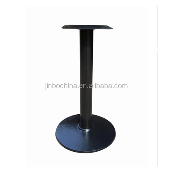 Iron furniture parts cast iron table base with round bottom plate