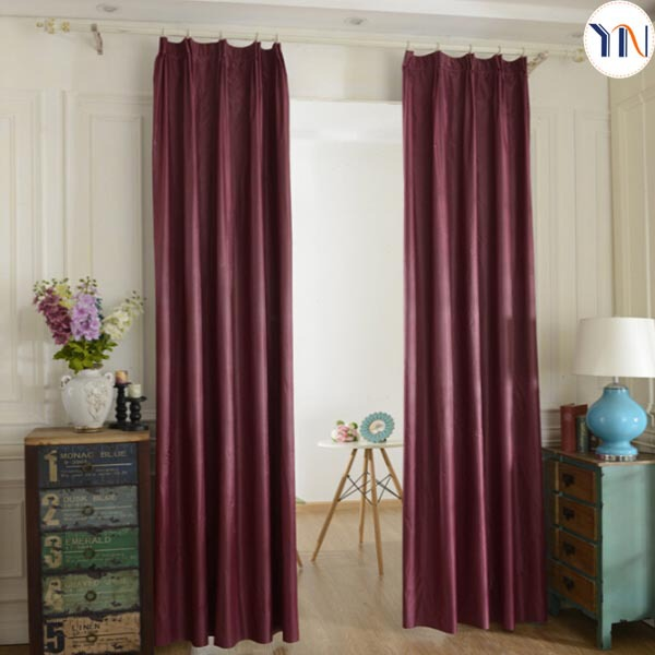 100% polyester heat insulation silver coating blackout fabric for curtain 100% blackout