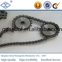 ISO DIN standard pitch 12.7mm 40A simplex roller chain 12T plain conveyor sprocket