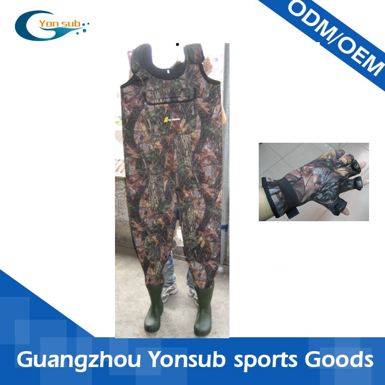 professional camo chest fishing wader