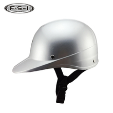 Good quality cross half face motorbike helmets DOT approved grey safety policeman helmet with visor