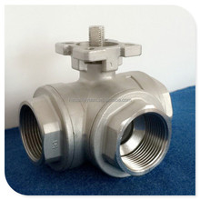 High Mounting Pad Three Way ISO 5211 Ball Valve with CF8M / CF8 1000wog