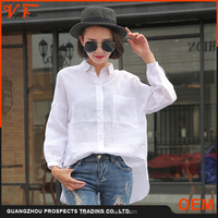 2016 high quality latest fashion design plus size long sleeve fashion blouse for women