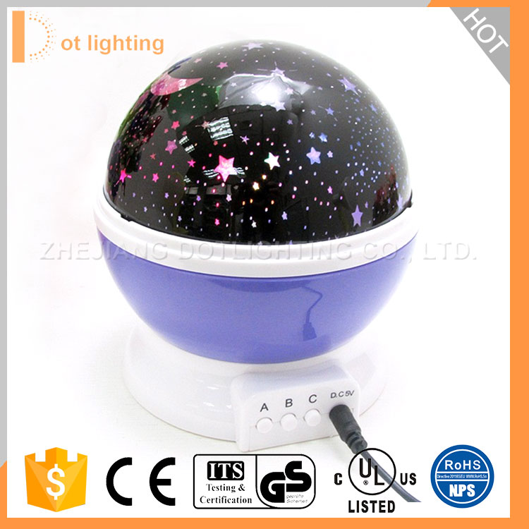 Baby Gift Romantic Rotating Starry Star Moon Sky Rotation Baby Night Light Projector