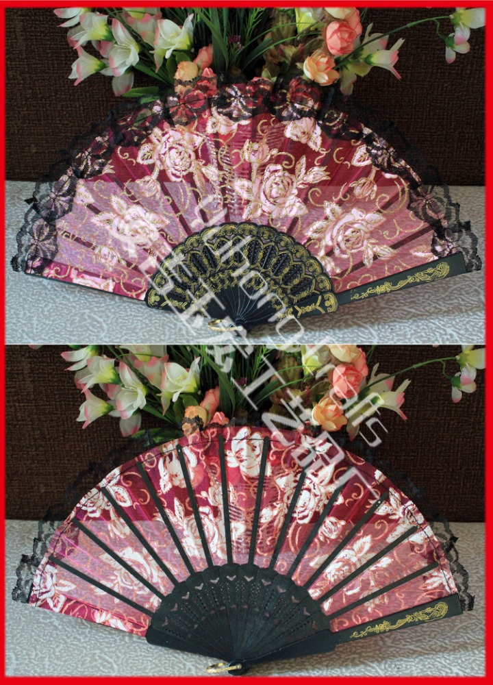 High quality wedding plastic lace fan