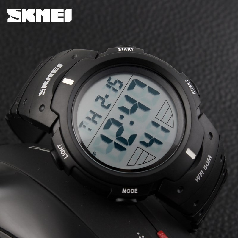 Large Dial LED Lights Chrono Alarm SKMEI Sports Watch Digital Watches For Boys