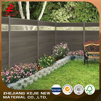 decorative wood fence design garden wpc fencing