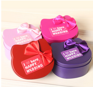 Custom wholesale candy gift packaging metal tin boxes for wedding