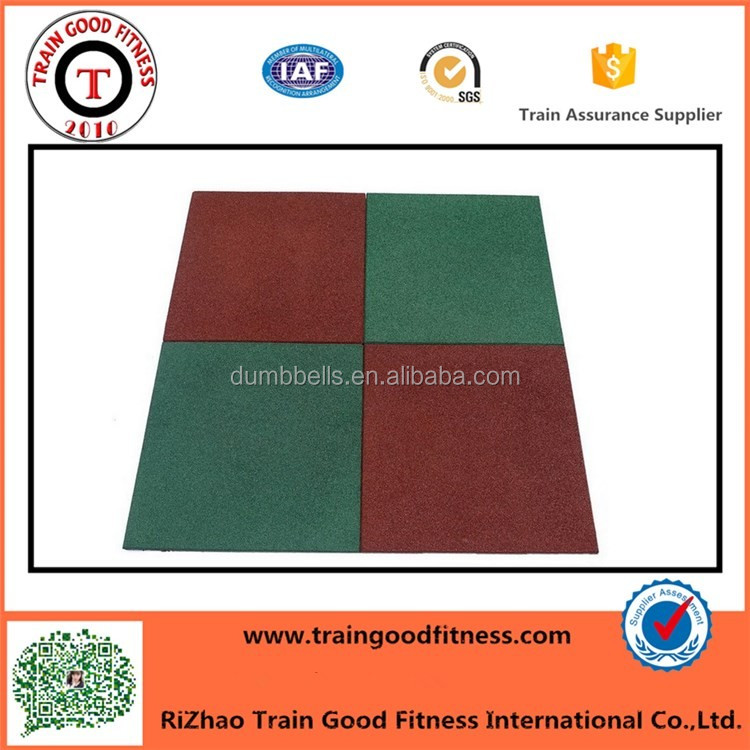 Gym Using Customized Thickness Rubber Tile Floor Mat