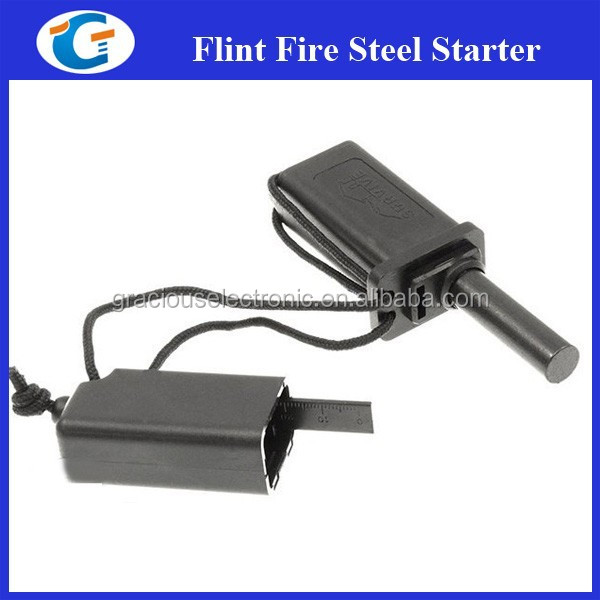 Survival gear fire steel starter for outdoor hunting hiking camping