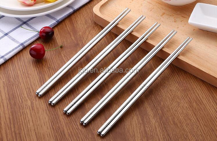 WNL-912 Twisted handle stainless steel travel chopsticks