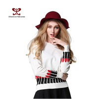 2015 Women Fashion Sweater 12GG Double Knitting Custom Crew Neck Sweater New Model Girl Dress Blouse Ladies Long Sleeve Sweater