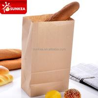 Bread packaging kraft paper bags for food