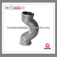 hot sale hot dipped galvanized plain malleable iron bellmouth pipe fitting