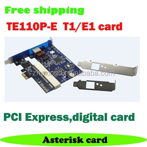 Digium Asterisk Digital Card ISDN PRI TE110P-E Single T1 / E1 / J1 port PCI-E Card
