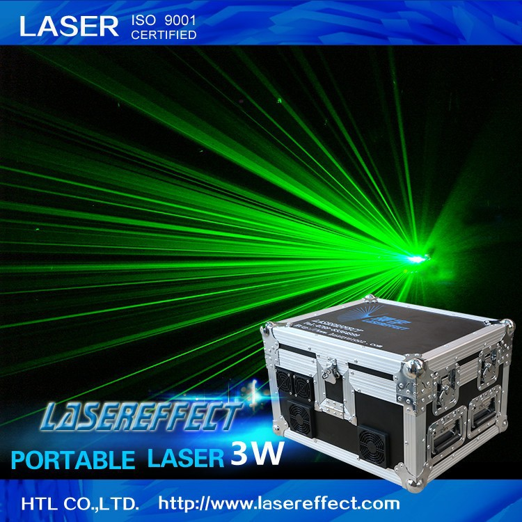 3w green portable laser light for traveling stage performance