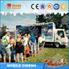 Electric motion ride simulator china truck mobile 7d cinema for sale