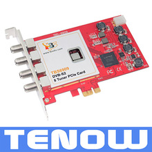 DVB-S2 professional 8 tuner industrial PCIe Card for IPTV streaming and broadcasting system.