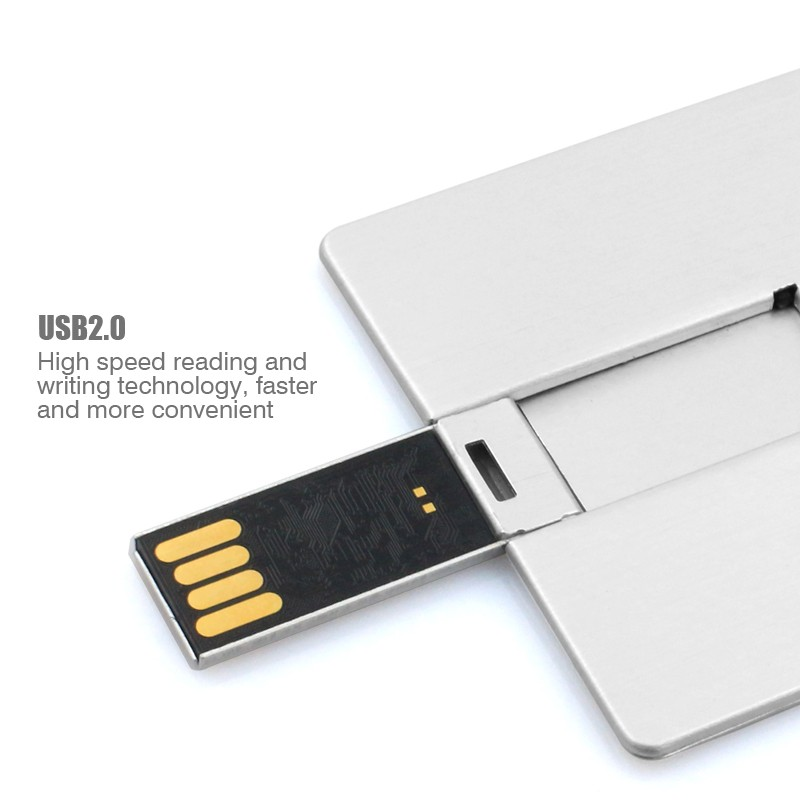 Aluminum Credit Card Usb Flash Drive 8GB with Customized Logo Printing