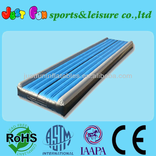 plat jumping mat/PVC inflatable tumble track for sale