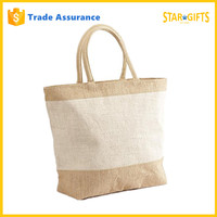 China Supplier Custom Jute Tote Shopping Bags With Handles