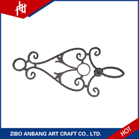 Easy assembling stamped parts hand forging decorative hot rolled steel panels