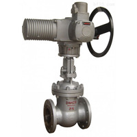 low price knife type metal seated electric gate valve dn250