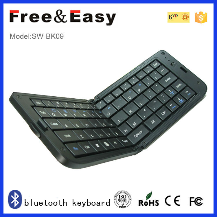 Mini folding wireless bluetooth keyboard for pc