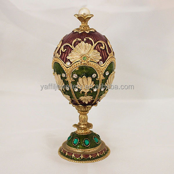 2017 antique style ring box,faberge egg with mother of pearl inlaid jewelry box