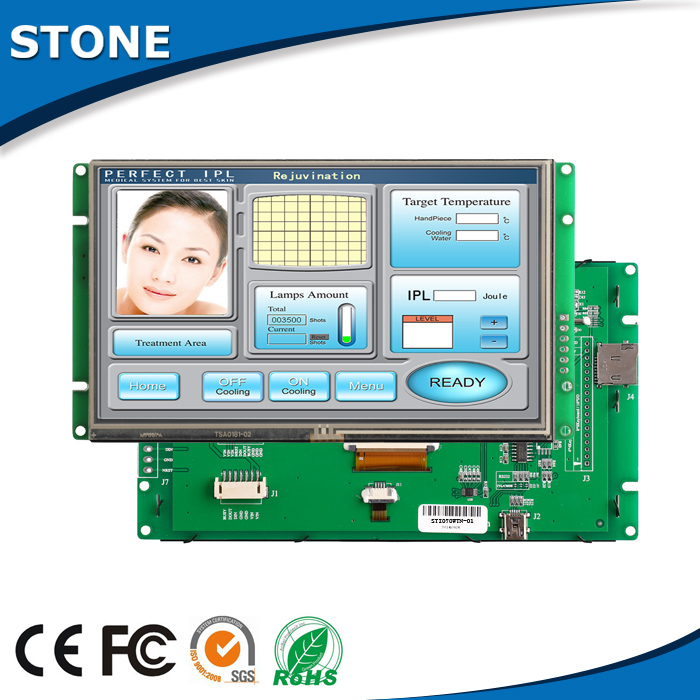 7 inch embedded industrial controller display lcd with touch screen