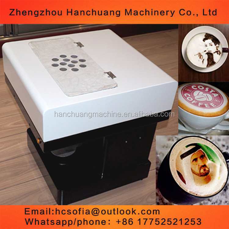 Self Latte Coffee Printer Automatic Edible Chocolate Food Printer for Cookies drinks
