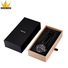 OEM sliding drawer box recycled black wrist watch band watch strap packaging