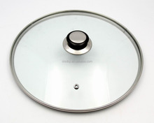 China best quality G type 4mm tempered glass lid for fry pan and pot