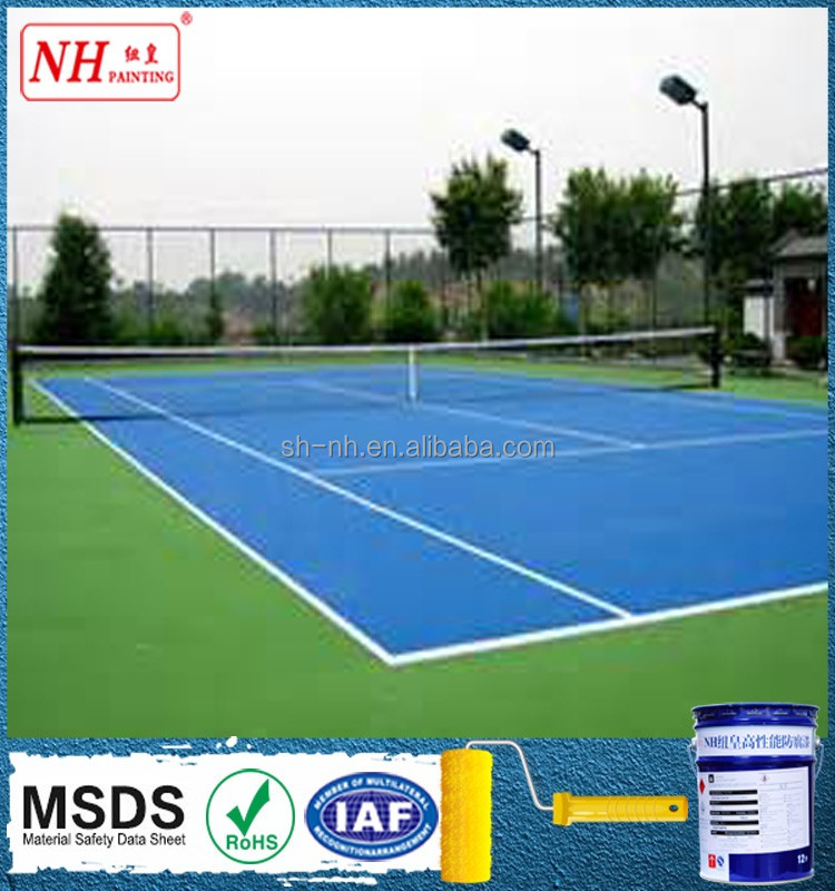 outdoor tennis court floor covering coating