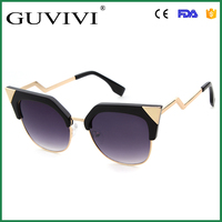 GUVIVI Mirror Lenses With Triangles Cat