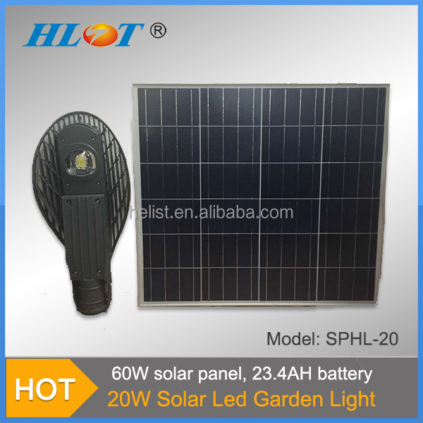 Auto sensing 20W COB 23.4AH Prices of Solar Street Lights