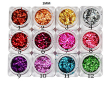 nail art hexagon glitter/powder/dazzling flakes/flitter decoration set