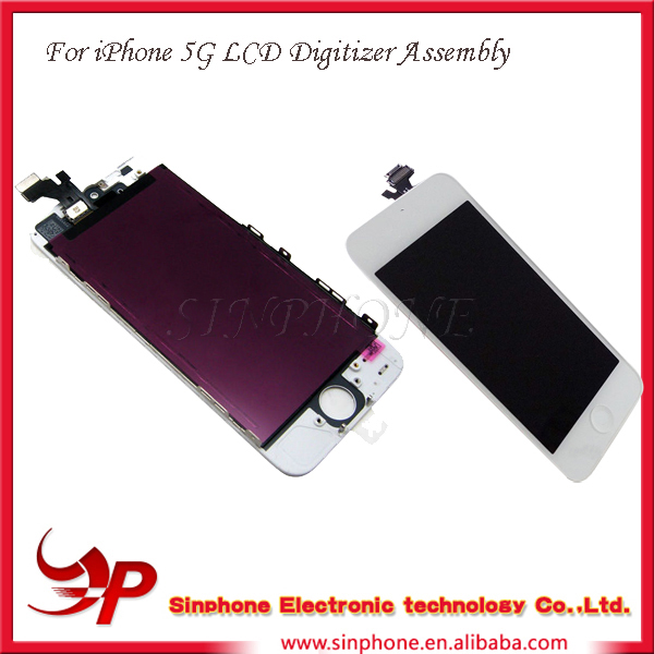 China Whlesale LCD Display Screen Glass for iPhone 5 with fast delivery