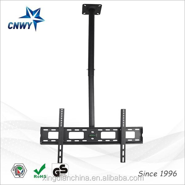 Noir cran plat tv support plafond motoris avec pivotant et inclinable meuble t l id de - Support plafond tv motorise ...
