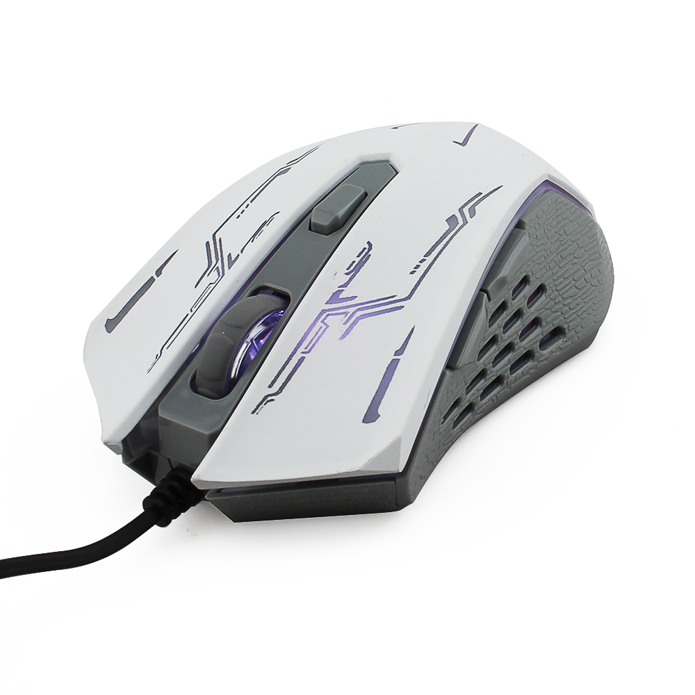 Desktop notebook computer mouse LOL games wired gaming mouse white