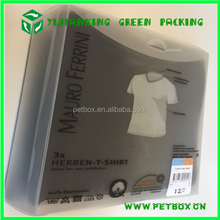 Small product clear flat plastic t-shirt clothes packaging boxes