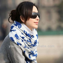 Shawl collar wholesale knit winter scarf 2012