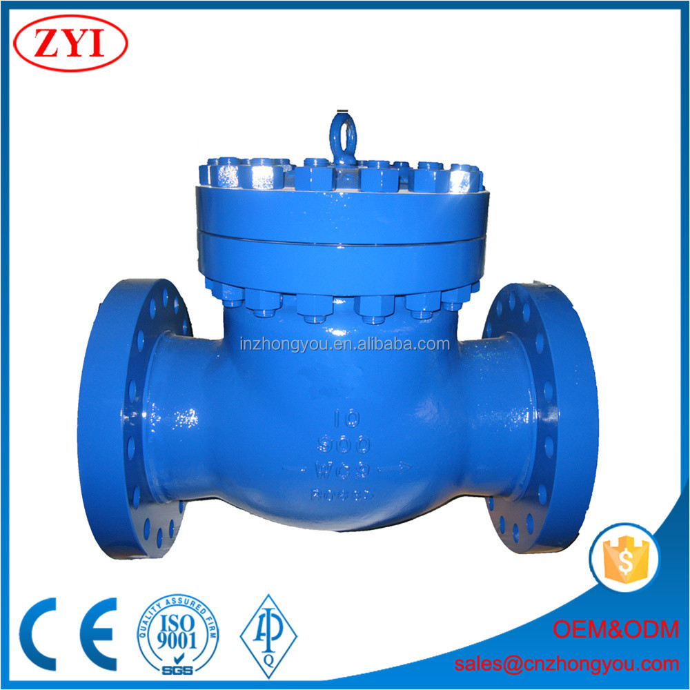High quality 10 inch cast steel bolted cover swing check valve