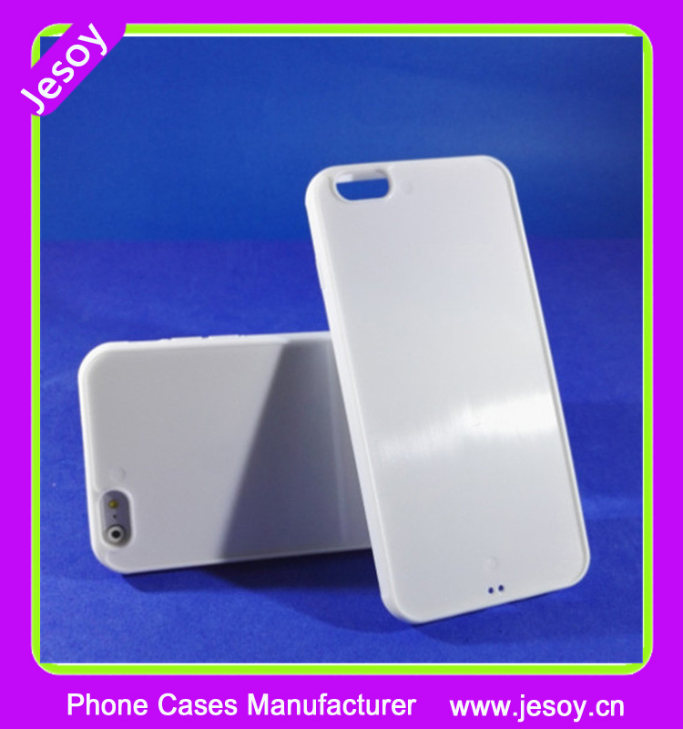 JESOY White Plastic Blank Cell Phone Case With Slot For Leather For Apple iPhone 5 5g 6 6s Case