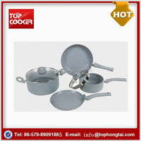 6pcs aluminum press induction non stick coating cookware