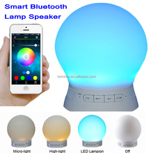 2016 Mini Round Bluetooth Speaker Smart Ball Portable Outdoor Bluetooth Speaker with led light app control