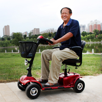 Supplier Mobile disability handicap power mobility folding 4 wheel motorized electric scooter for old people